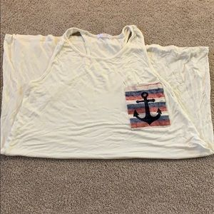 Super cute Anchor pocket cover up